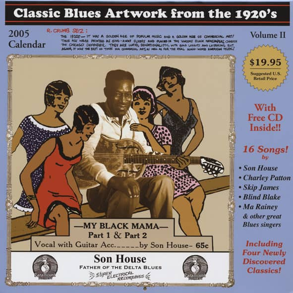Classic Blues Artwork from the 1920's with CD