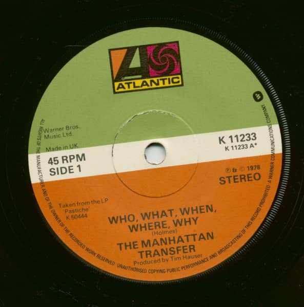 Who, What, When, Where, Why - In A Mellow Tone (7inch, 45rpm, SC)