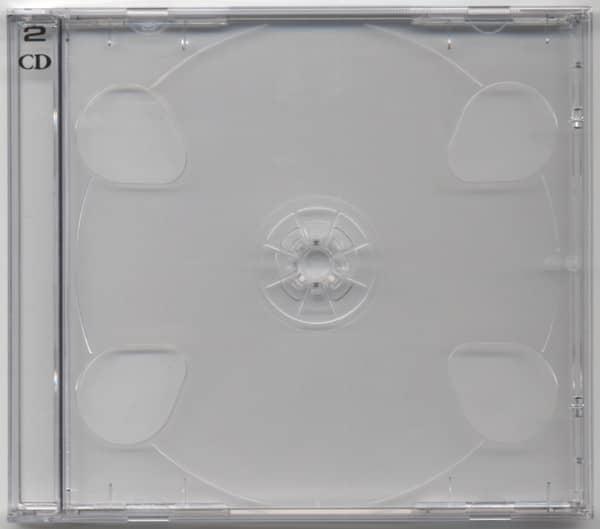 CD case avec clair tray pour 2 CDs