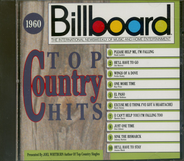 1960, Billboard Top Country Hits (CD)