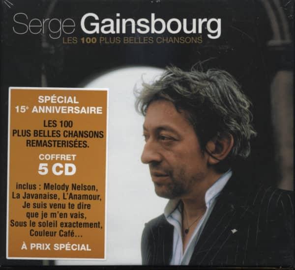 Gainsbourg, Serge Les 100 Plus Belles Chansons 5-CD-Box