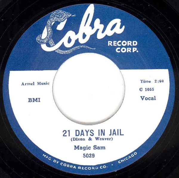21 Days In Jail b-w Easy Baby 7inch, 45rpm