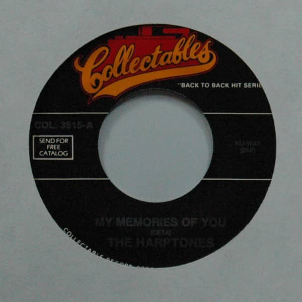 My Memories Of You b-w Since I Fell For You 7inch, 45rpm