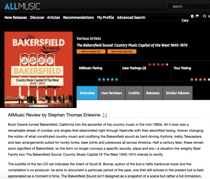 Presse-Archiv-Various-Artists-The-Bakersfield-Sound-1940-1974-allmusic