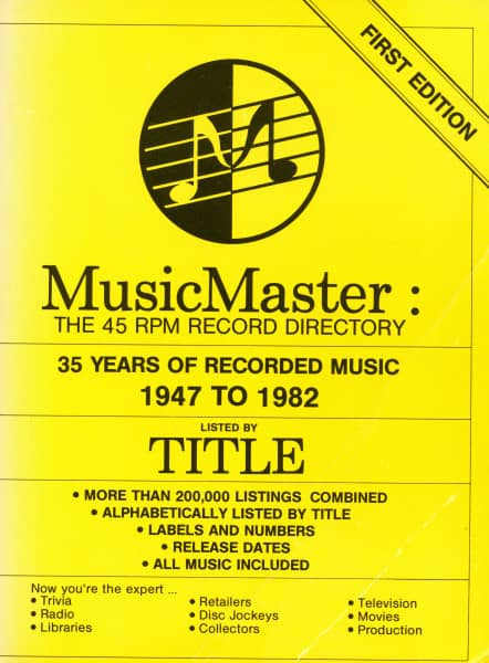 Mawhinney, Paul C. - Music Master: The 45 RPM Record Directory 1947-82 - Listed by Title