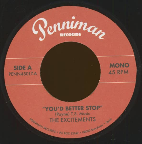 You'd Better Stop - From Now On (7inch, 45rpm)