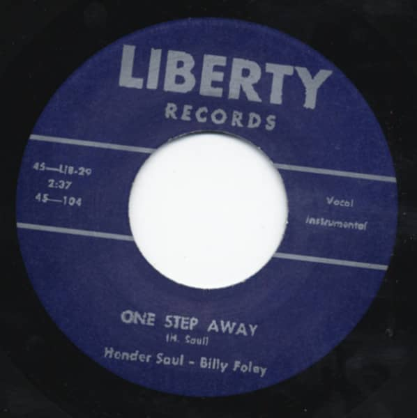 I Ain't Gonna Rock Tonite b-w One Step Away 7inch, 45rpm