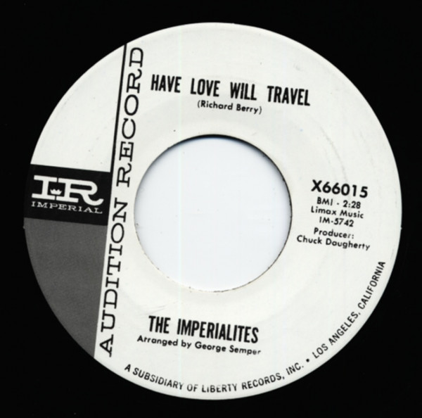 Have Love Will Travel b-w Slip Knot 7inch, 45rpm