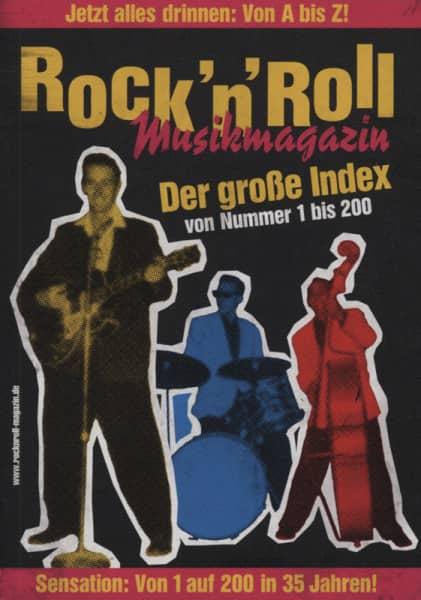 Rock & Roll Musikmagazin Index (#1-#200) Alle Künstler A-Z!