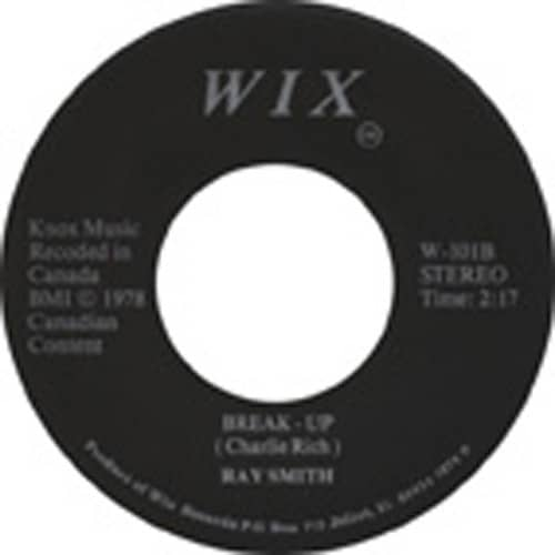 Break Up - Roomful Of Roses 7inch, 45rpm 1978 Stereo