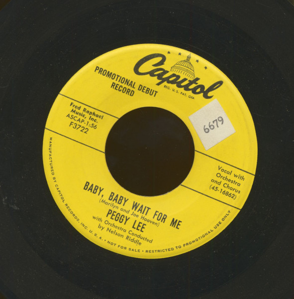 Baby, Baby Wait For Me - Every Night (7inch, 45rpm)