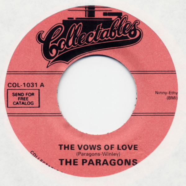 The Vows Of Love b-w Stick With Me Baby 7inch, 45rpm