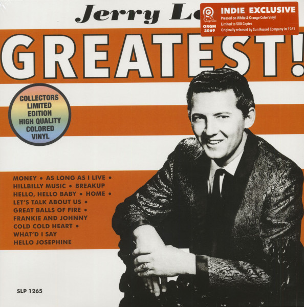 Jerry Lee's Greatest! (LP, Colored Vinyl, Ltd.)