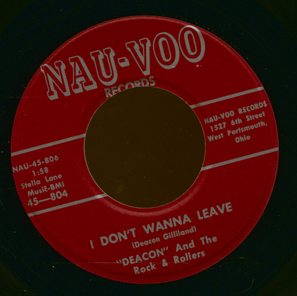 I Don't Wanna Leave - Rockin' On The Moon (7inch, 45rpm, Repro)