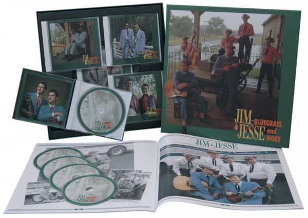Jim & Jesse Bluegrass And More 5-CD-Box & 32-Page Book