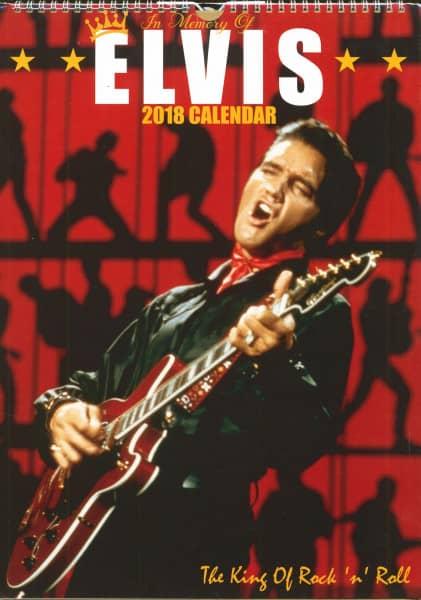 Elvis 2018 Calendar - The King Of Rock'n'Roll (42x30 cm)