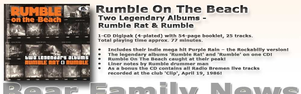 Rumble On The Beach Two Legendary Albums - Rumble Rat & Rumble