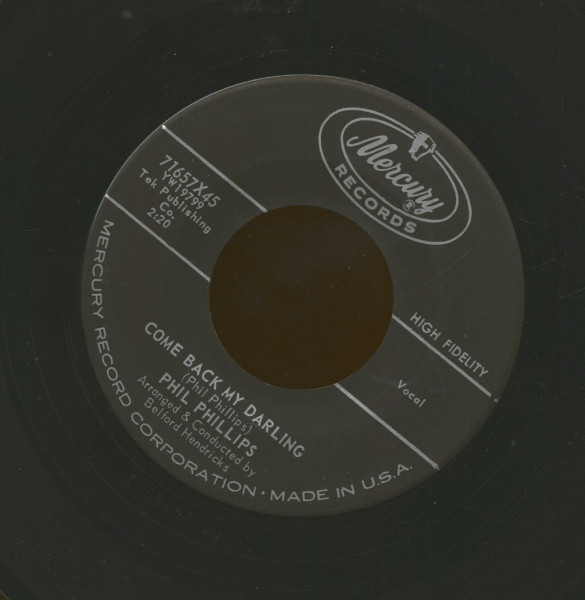 Come Back My Darling - Nobody Knows And Nobody Cares (7inch, 45rpm)