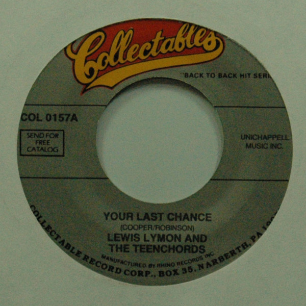 Your Last Chance b-w Too Young 7inch, 45rpm