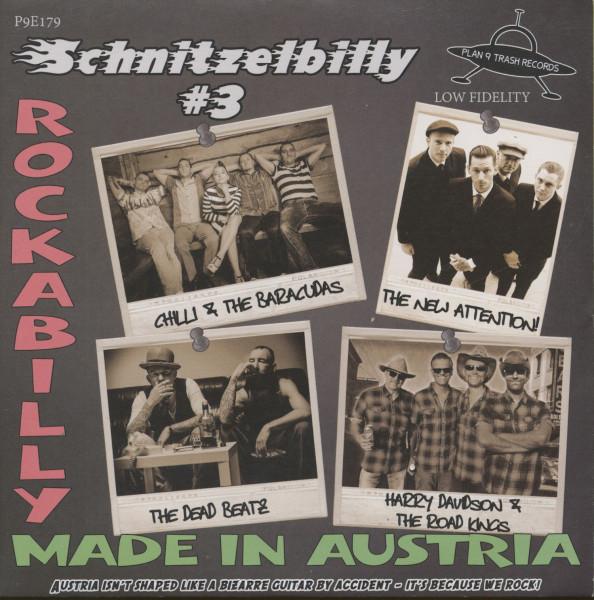 Schnitzelbilly No.3 - Rockabilly Made In Austria (EP, 33rpm, 7inch, PS, SC, Red Vinyl)
