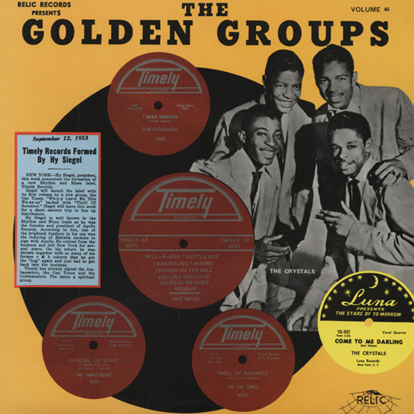 The Golden Groups Vol.45 - Timely Records (LP)