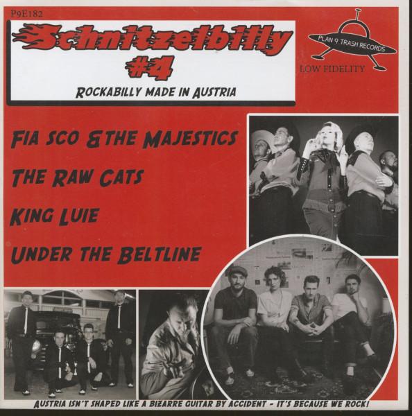 Schnitzelbilly No.4 - Rockabilly Made In Austria (7inch, EP, 33rpm, PS, SC, Red Vinyl)