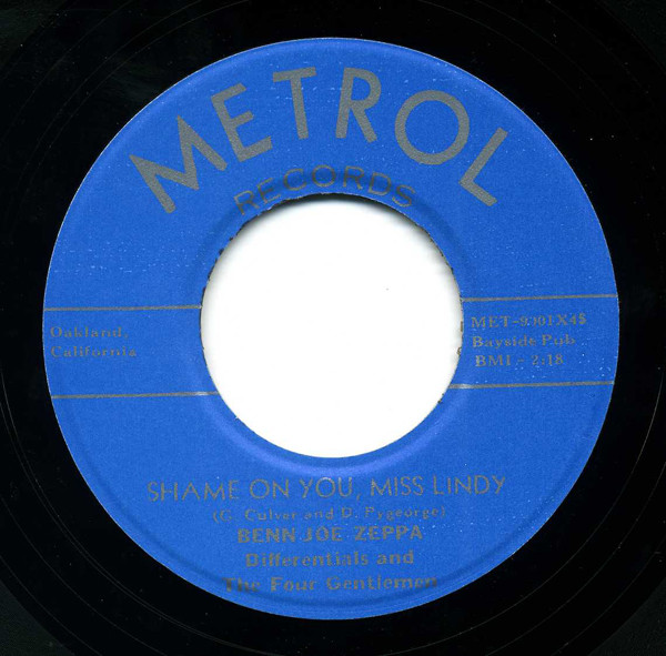 Terry Lou - Shame On You Miss Lindy (7inch, 45rpm)