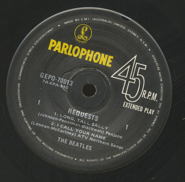Requests (7inch, 45rpm, EP, SC)