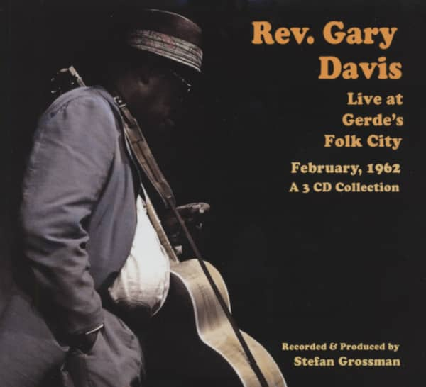 Davis, Reverend Gary Live At Gerdes Folk City 1962 (3-CD)