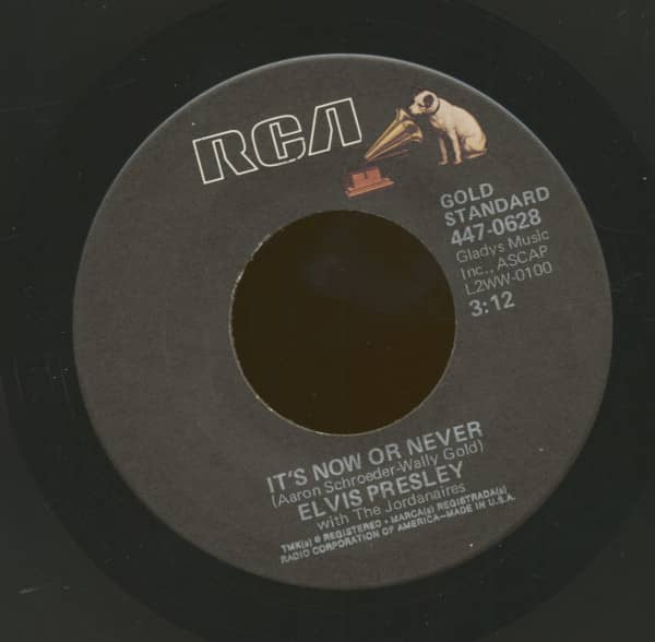 It's Now Or Never - A Mess Of Blues (7inch, 45rpm)