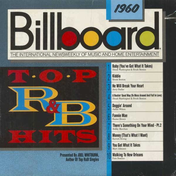Billboard Top R&B Hits - 1960 (LP, Cut-Out)