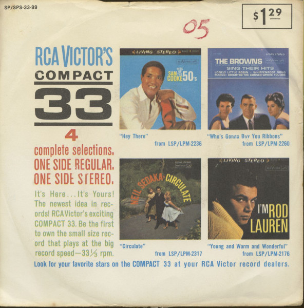 RCA Victor's Compact 33 (7inch, 33rpm, EP, PS, sc)