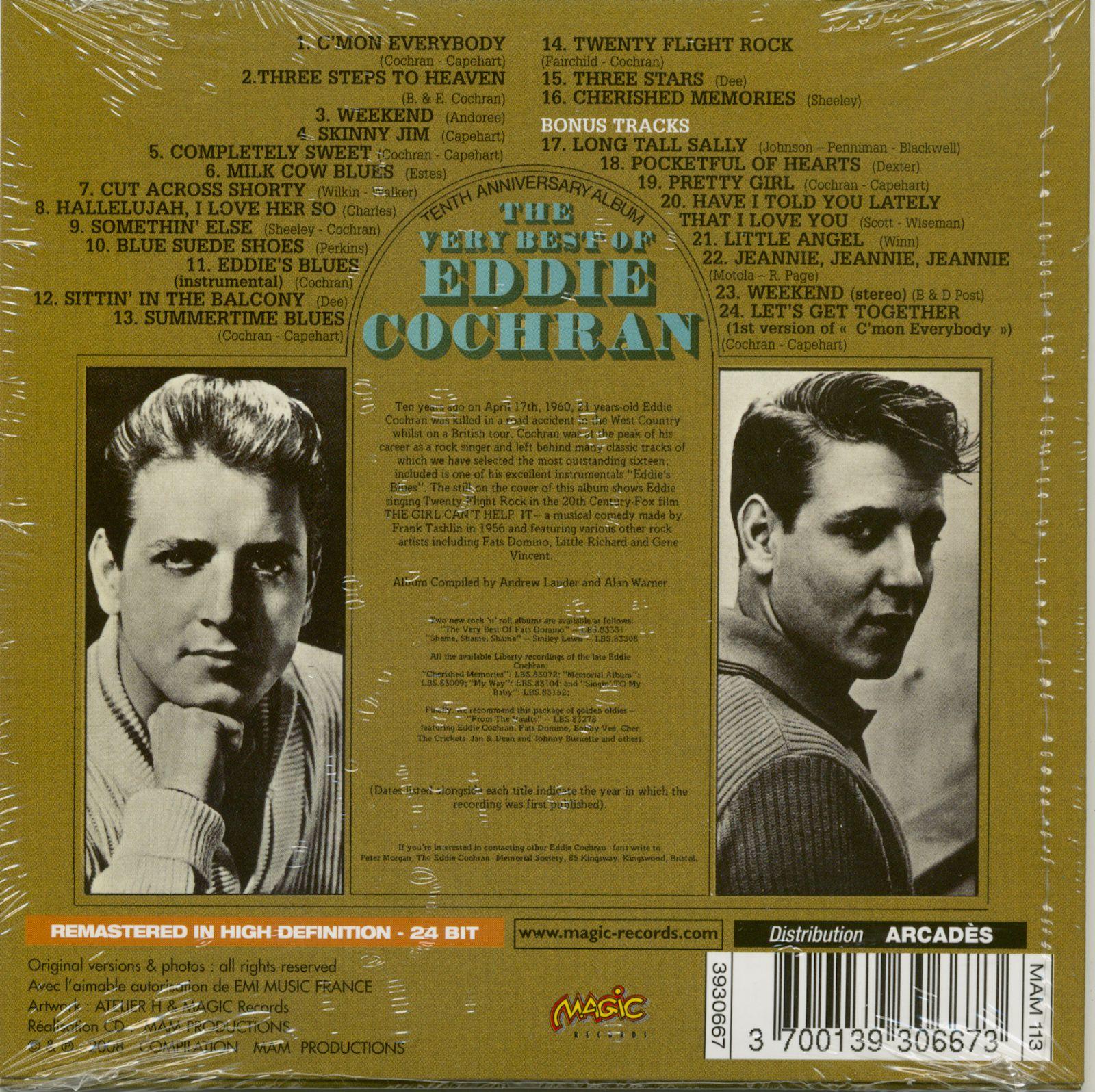 Eddie Cochran Cd Cochran Eddie 10th Anniversary Very