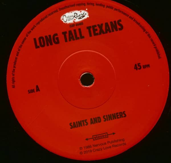 Saints And Sinners (7inch, 45rpm, EP)