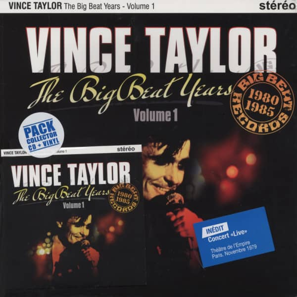 Taylor, Vince The Big Beat Years 1980-85 (25cmLP&CD) Ltd.