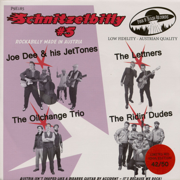 Schnitzelbilly No.5 - Rockabilly Made In Austria (7inch, EP, 33rpm, PS, SC, Red Vinyl)