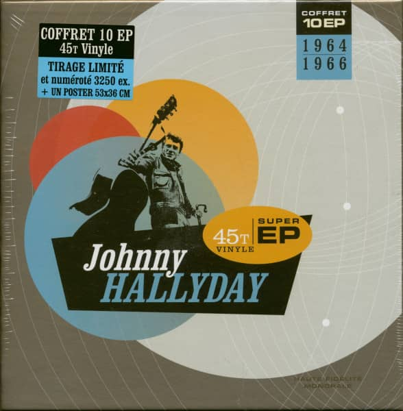 Johnny Hallyday 1964-1966 (10x7inch EP, 45rpm, Ltd.)