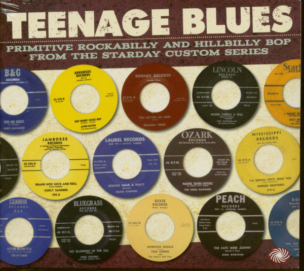 Teenage Blues: Primitive Rockabilly And Hillbilly Bop From The Starday Custom Series (3-CD)