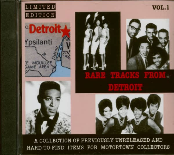 Rare Tracks From Detroit Vol.1 (CD)