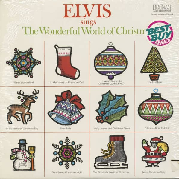 Elvis Sings The Wonderful World Of Christmas (LP, Cut-Out)