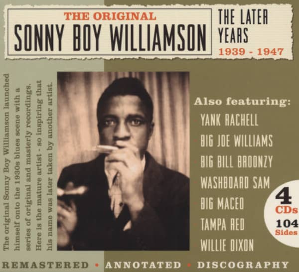 Williamson, Sonny Boy Later Years (4-CD-Box)