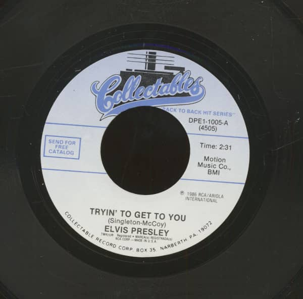 Tryin' To Get To You - I Love You Because (7inch, 45rpm)