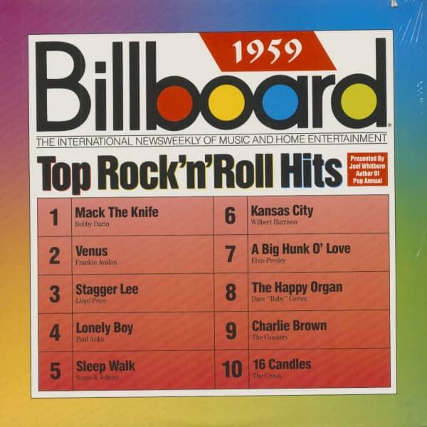 Billboard Top Rock & Roll Hits - 1959 (LP. Cut-Out)