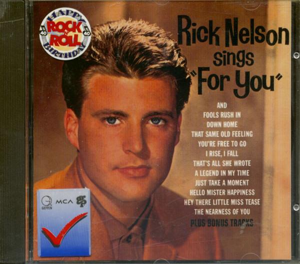 Rick Nelson Sings ' For You ' plus bonus (CD)