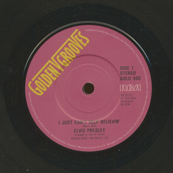 I Just Can't Help Believin' - Bridge Over Troubled Water(7inch, 45rpm, sc)