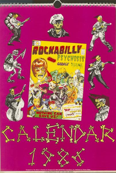 1986 - Rockabilly Psychosis Official Calendar 30x42cm