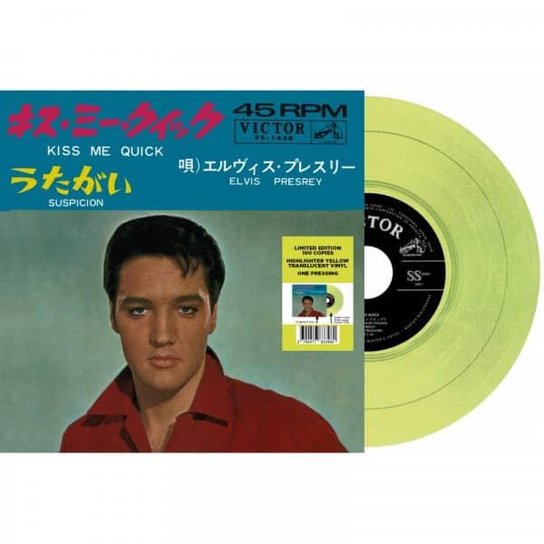 Kiss Me Quick - Suspicion (7inch, 45rpm, Yellow Vinyl, Ltd.)