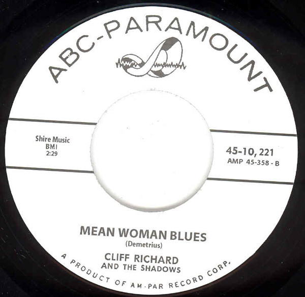 Mean Woman Blues b-w No Turning Back 7inch, 45rpm