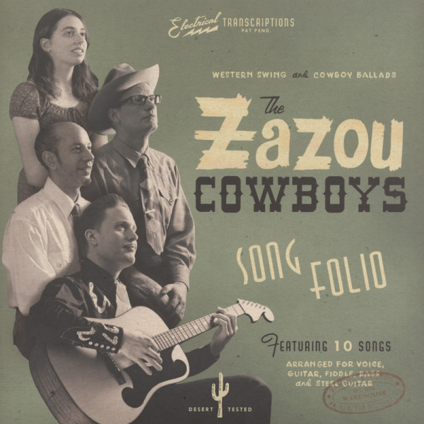 Zazou Cowboys Song Folio - 180g Vinyl plus (CD) Gatefold