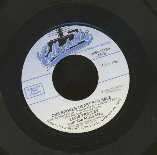 One Broken Heart For Sale - (You're The) Devil In Disguise (7inch, 45rpm)